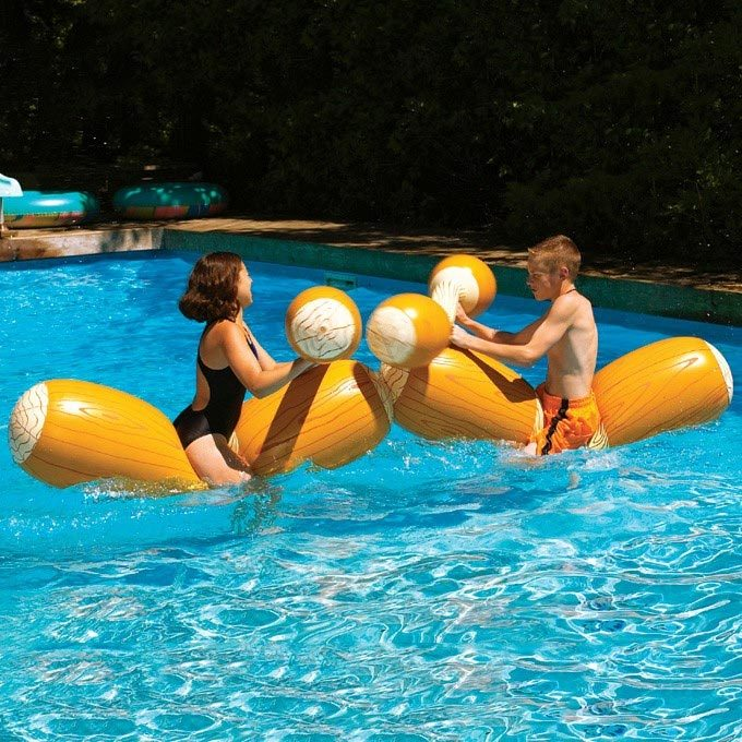 pool jousting set images with kids