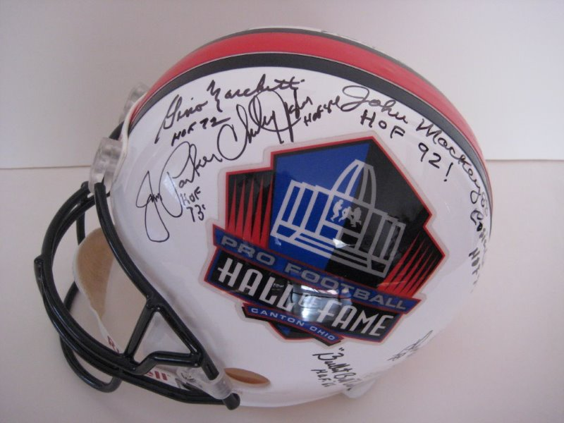 pro football hall of fame helmet