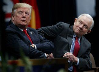 donald trump with jeff sessions on rob rosenstein firing ag