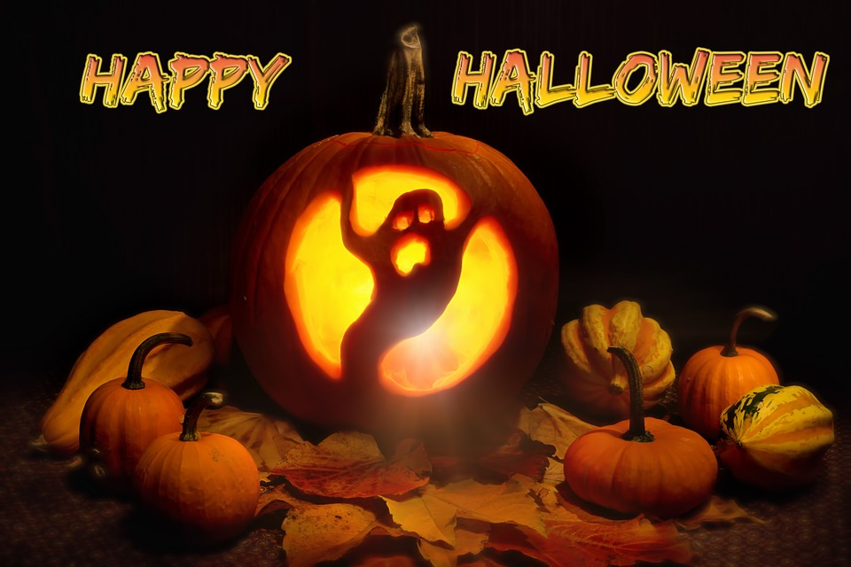 halloween jack o lantern cut out ghost