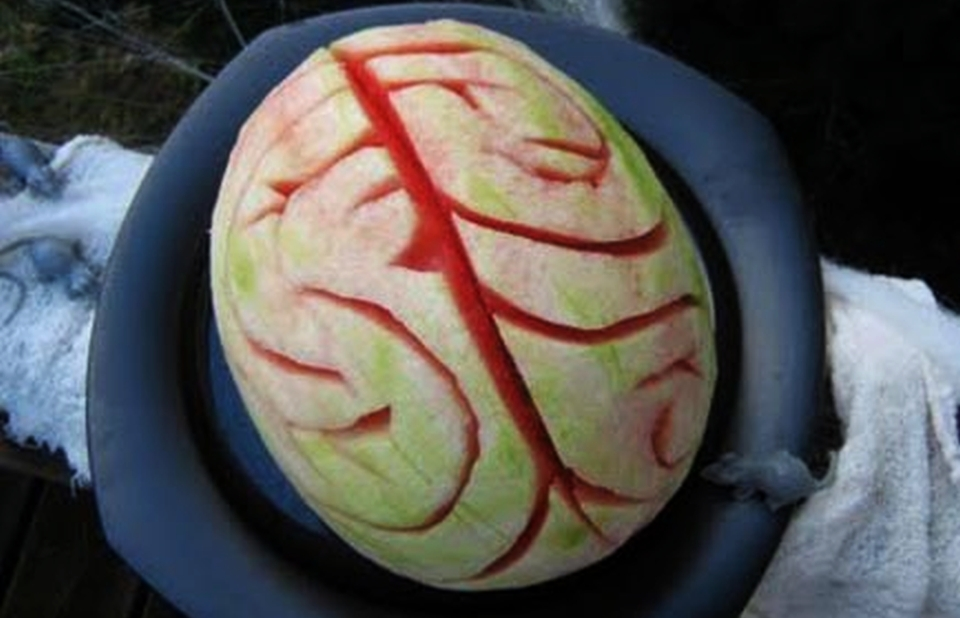 halloween watermelon human brain ideas