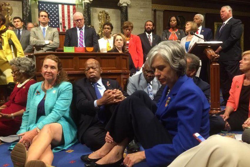 democratic gun control sit in 2016
