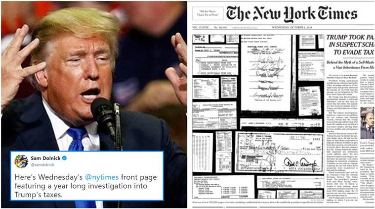 donald trump hit with new york times tax story