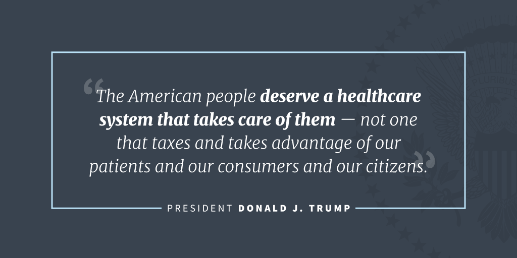 donald trump statement on obamacare repeal