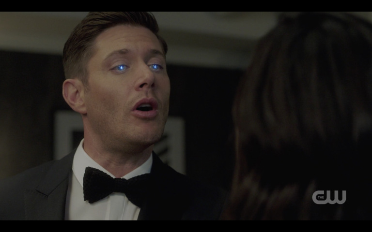 jensen ackles blue eye demon michael sucks out melanie