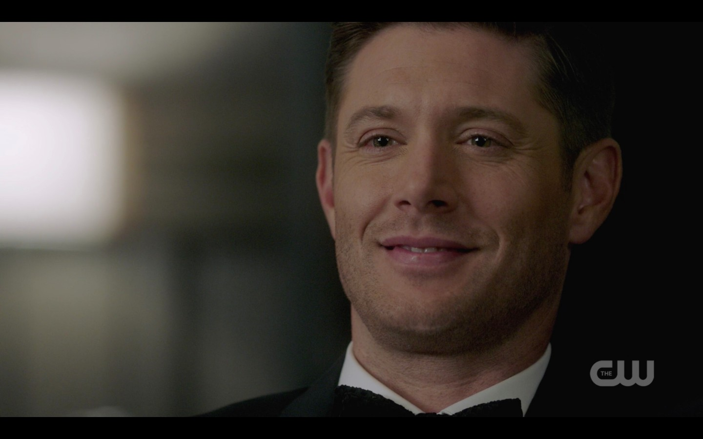 jensen ackles michael smiling at pack leader gods and monsters