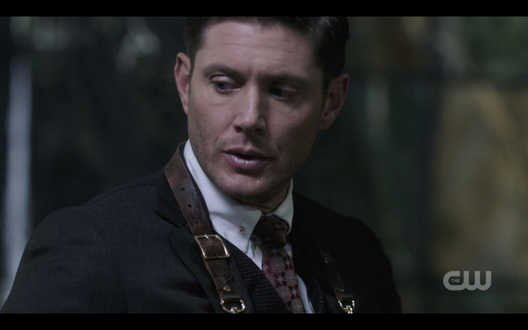 jensen ackles michael with curved knife gods monsters