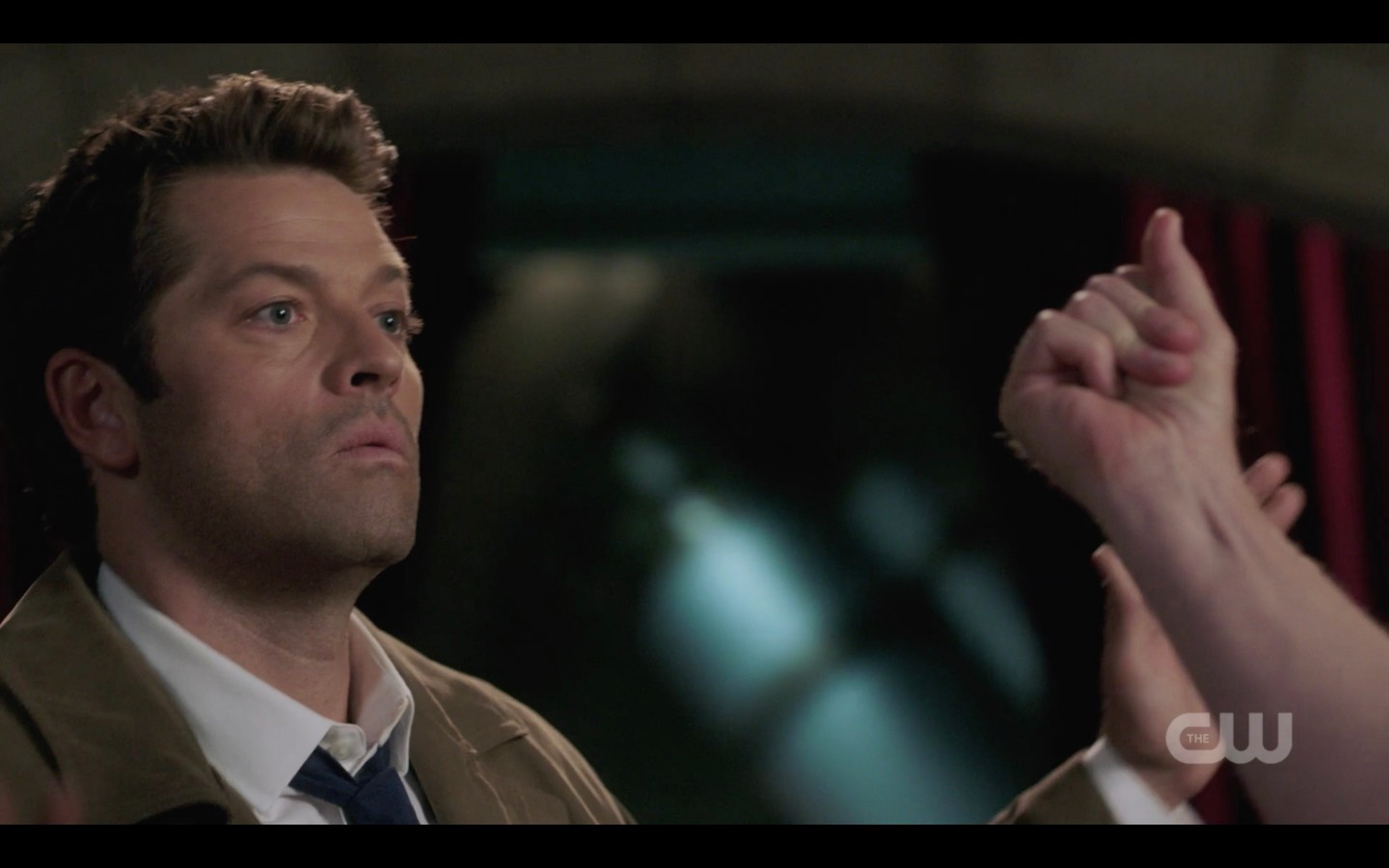 supernatural castiel jumps back from nick snap 1402