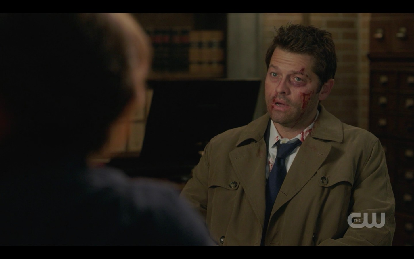 supernatural castiel misha collins with sam winchester are you all right