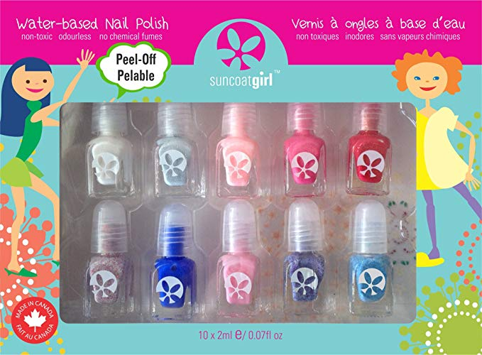 Peel off nail polish set non toxic hot holiday kids toys