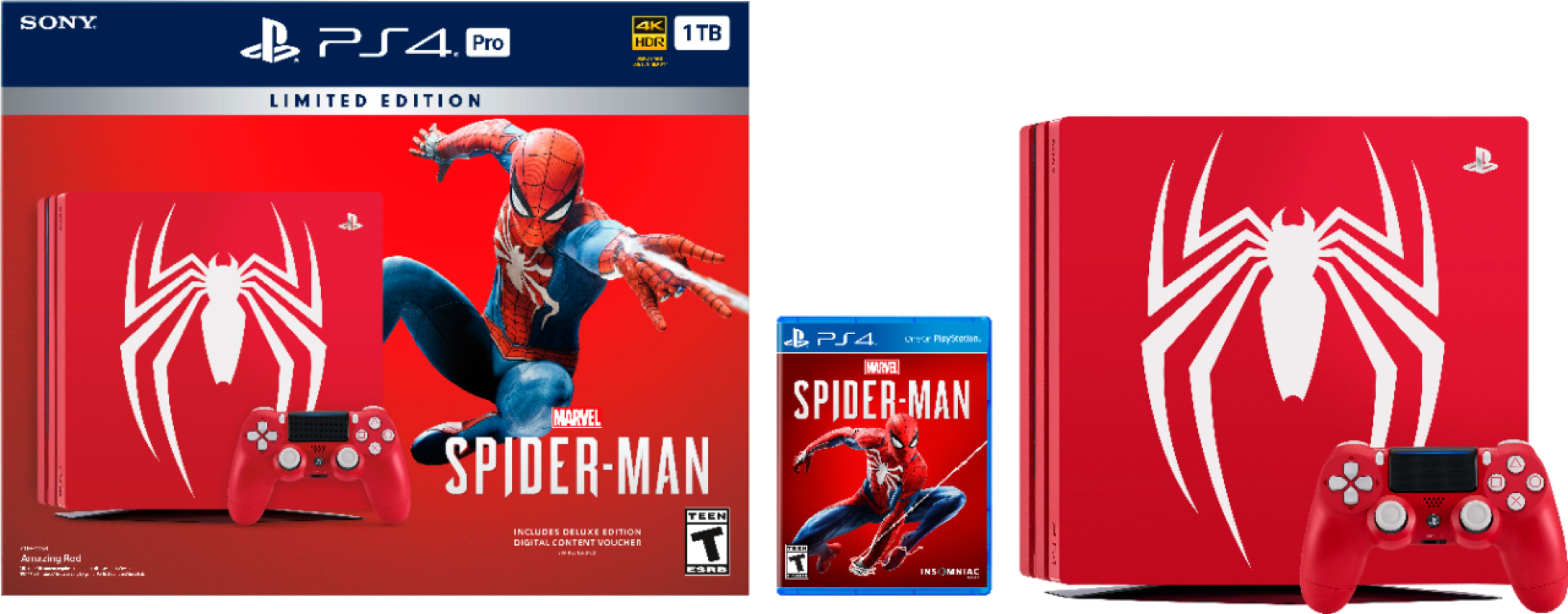 Sony PS4 Slim 1TB Spider-Man Bundle black friday 2018 hot deals