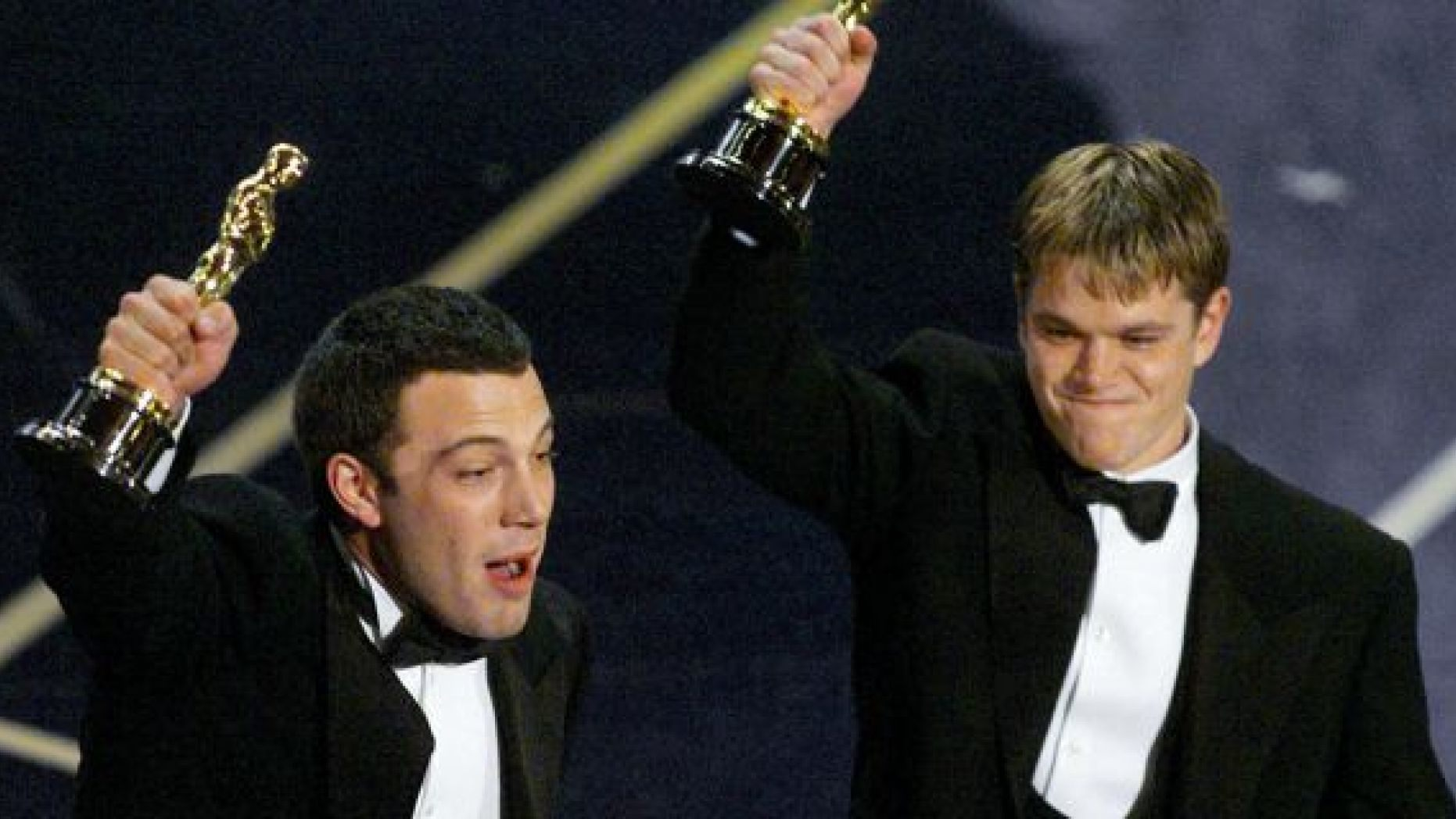 ben affleck matt damon accept oscar for good will hunting william goldman