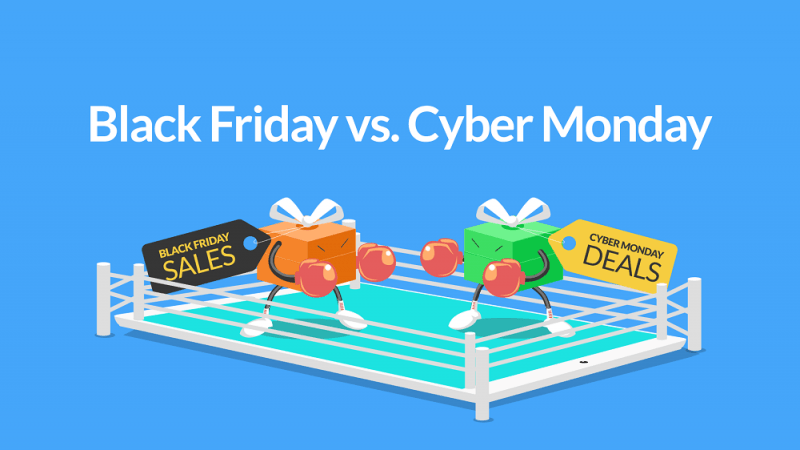 black friday vs cyber monday amazon 2018 deals images