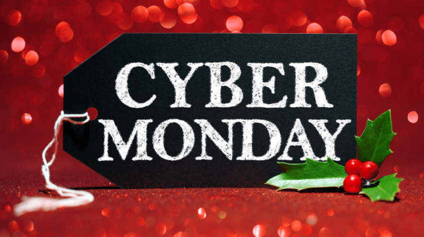 cyber monday holly cards