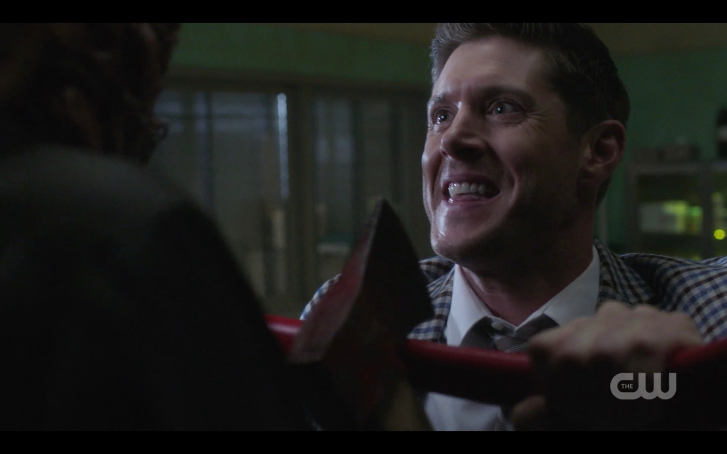 dean winchester fighting hatchetman i was kinda hoping youd say that spn