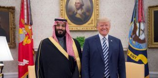 donald trump standing by saudi arabia counter to cia claims