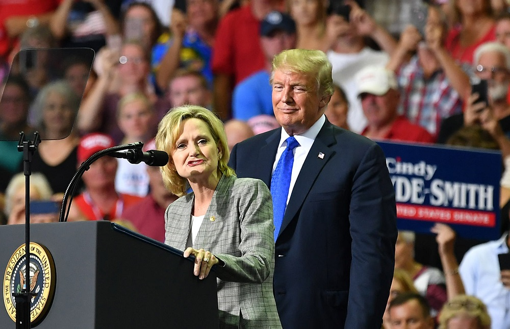 donald trump to the rescue for cindy hyde smith election mike espy 2018