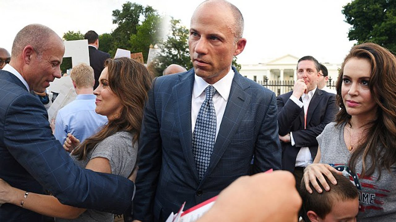 michael avenatti with alyssa milano