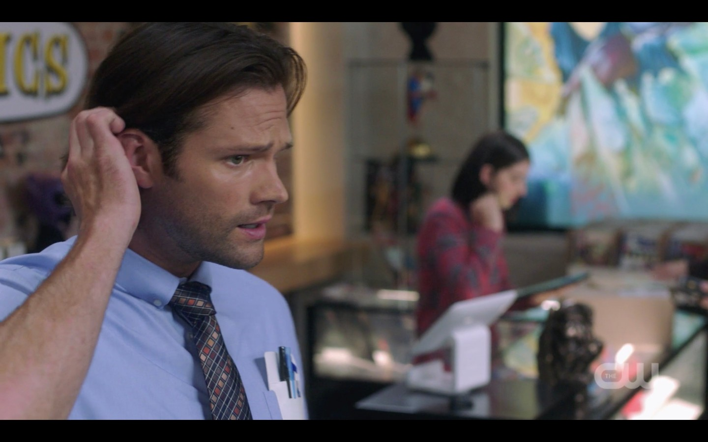 sam winchester playing with hair for dean 1404