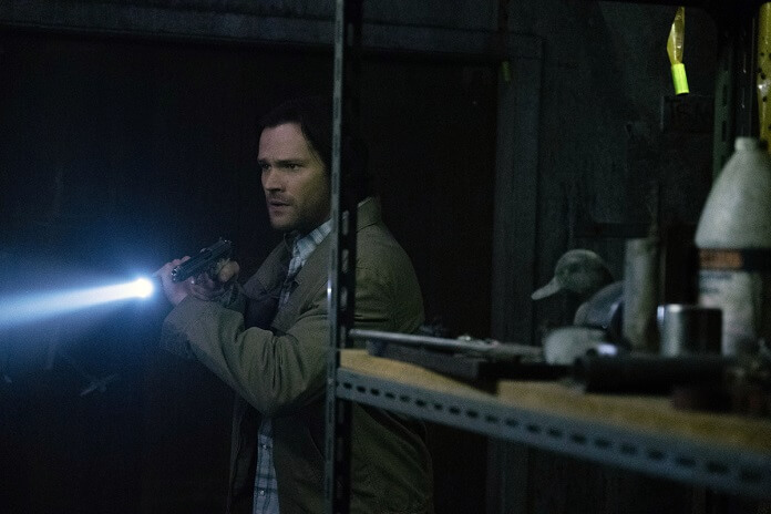 sam winchester searching for flyman with flashlight optimism