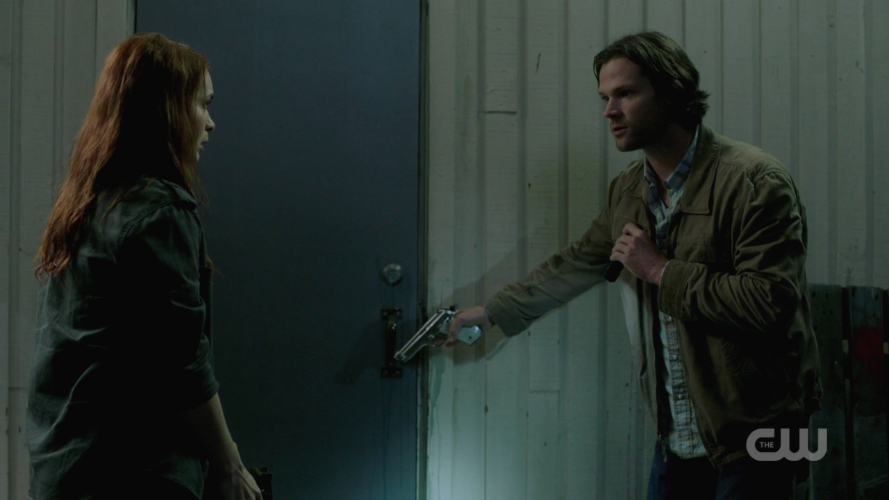 sam winchester with charlie and fly man spn 1406