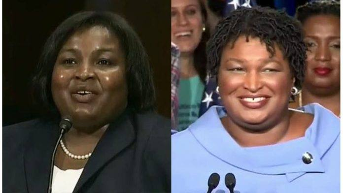 stacey abrams with sister election