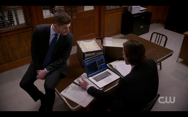 supernatural chitters winchester brothers desk scene