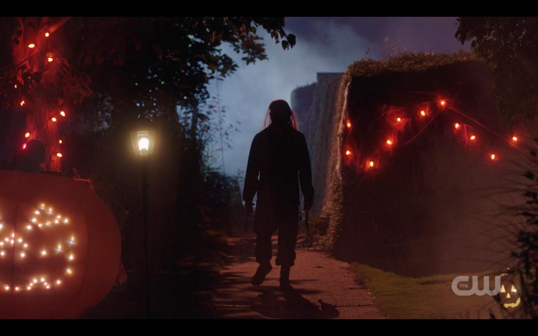 supernatural hatchetman on halloween night looking for victims