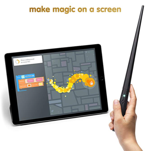 Harry Potter Wand Coding Kit in action for boys holiday gifts