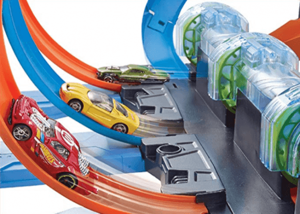 Hot Wheels Corkscrew Crash Track action boy toys