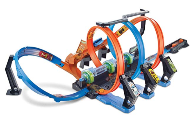 Hot Wheels Corkscrew Crash Track full size