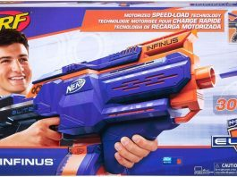 Infinus Nerf N-Strike Elite Toy Motorized Blaster with Speed-Load Technology hottest boy toys 2018