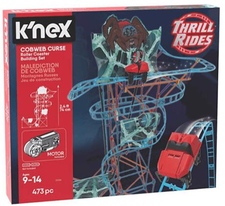 K'NEX Thrill Rides – Cobweb Curse Roller Coaster Building Set box boy toys
