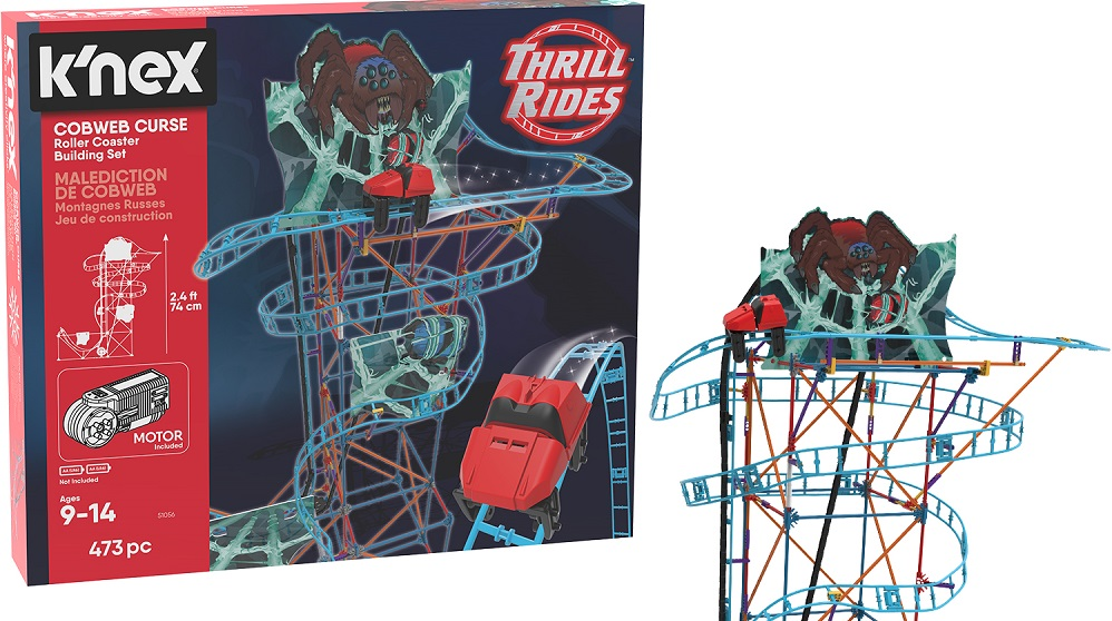 K'NEX Thrill Rides Cobweb Curse Roller Coaster Building Set 473 hottest boy toys 2018