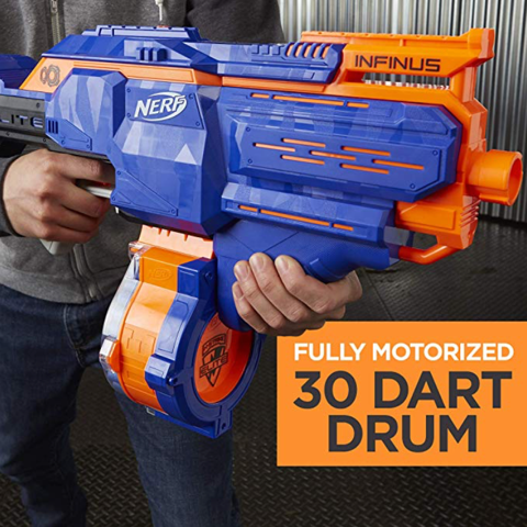 Nerf N-Strike Elite Toy Motorized Blaster 30 dart drum hot boy toys