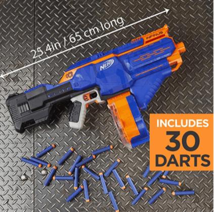 Nerf N-Strike Elite Toy Motorized Blaster 30 darts hottest boy toys 2018