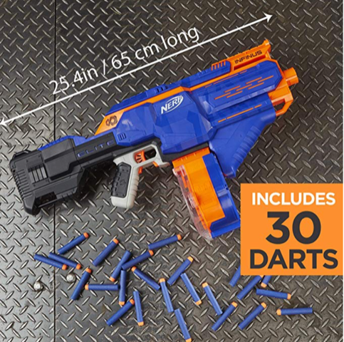 Nerf N-Strike Elite Toy Motorized Blaster 30 darts hottest boy toys 2018