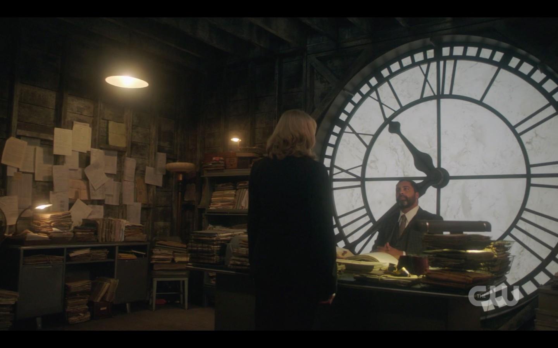 anubis in fron ot clock window spn byzantium