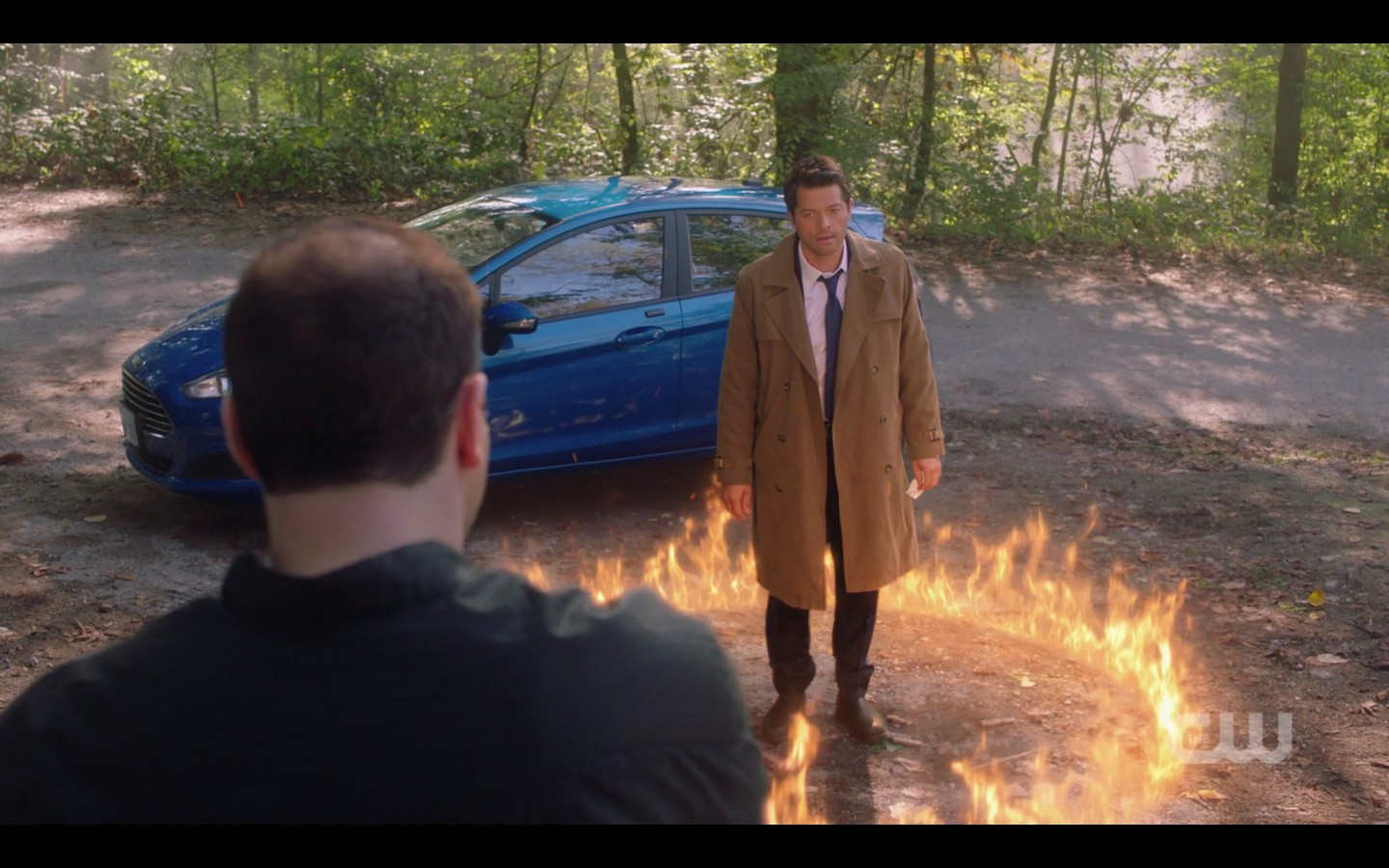 castiel in ring of fire with sergei spn 1407