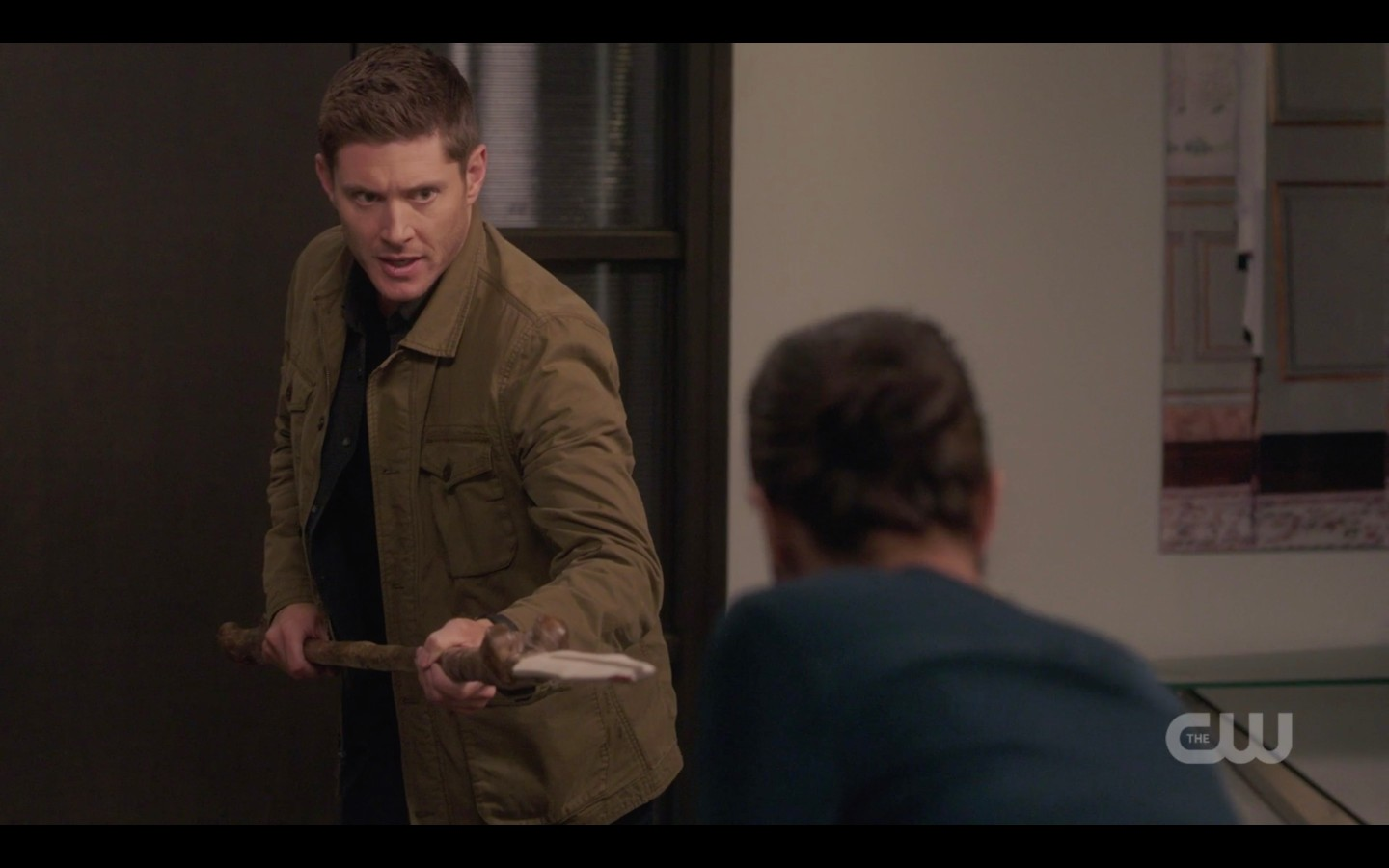 dean michael with spear for jack spn 1409