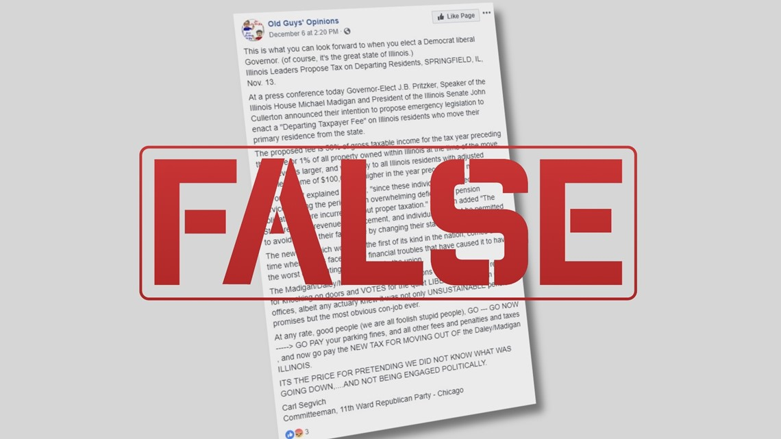 illinois taxing residents who move fake news