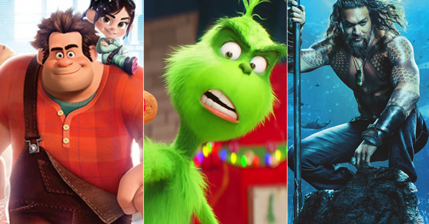 ralph breaks internet grinch and aquaman hot box office december