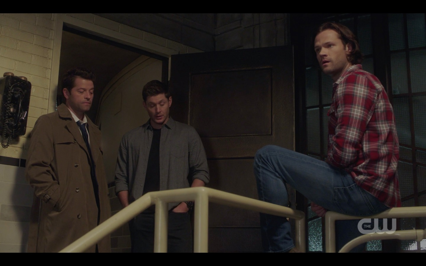 sam dean winchester with castiel watching jack die 1407 spn