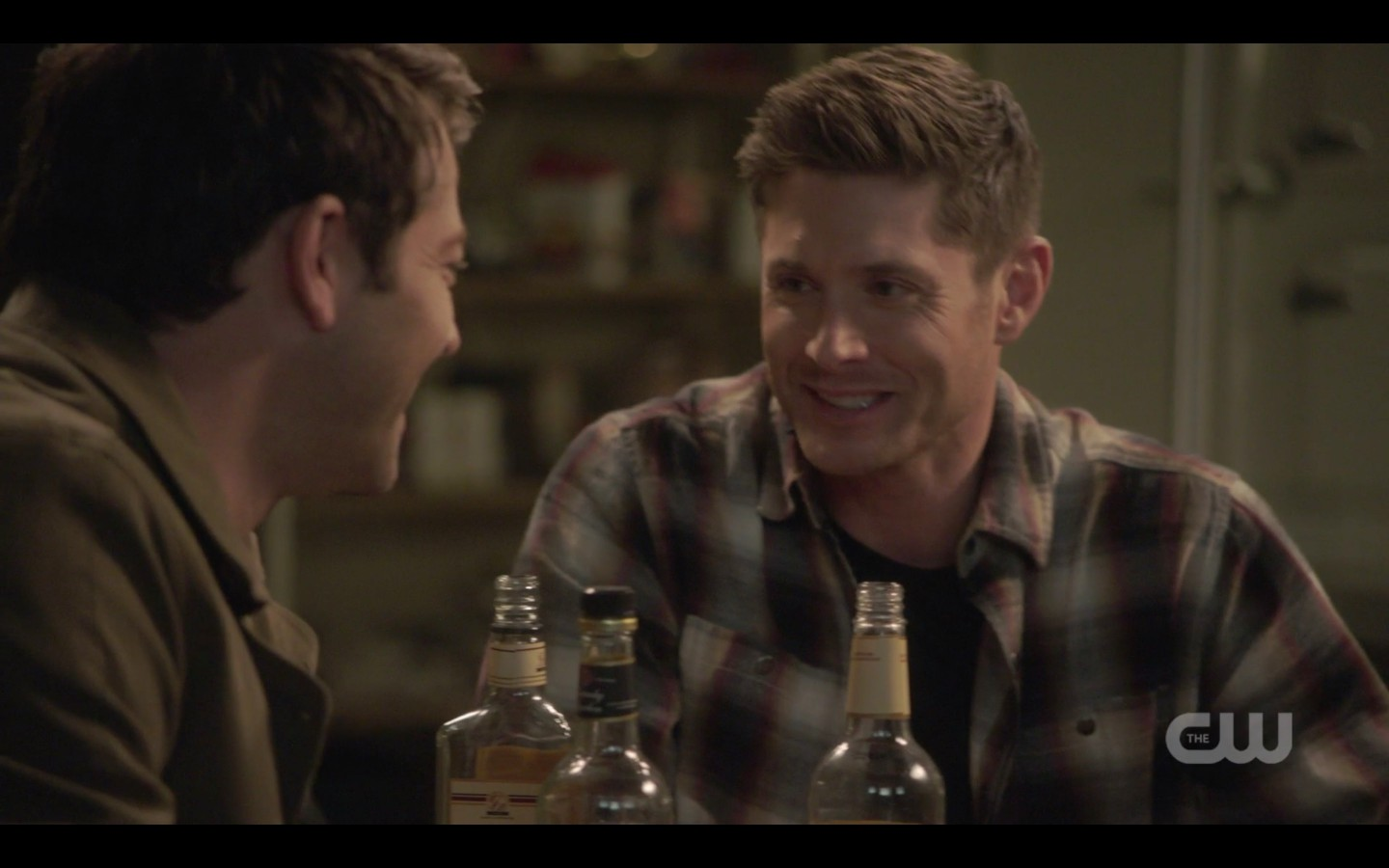 spn dean winchester castiel drinking laughing at jack memory