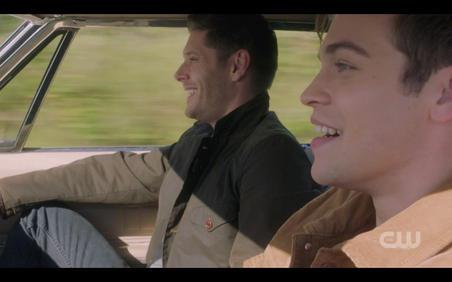 supernatural jack driving dean jensen acles in baby 1407