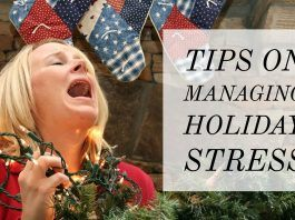 woman screaming stressed out over holiday stress tips