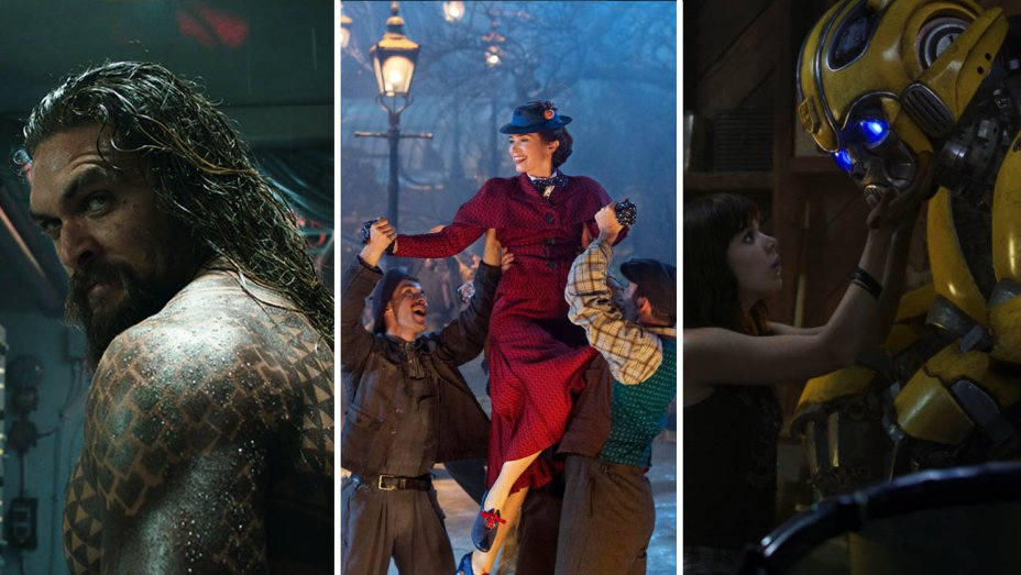 aquaman beats mary poppins and bumblebee new years box office