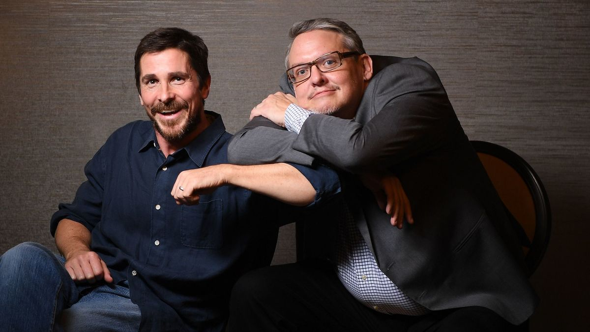 christian bale with adam mckey on vice movie