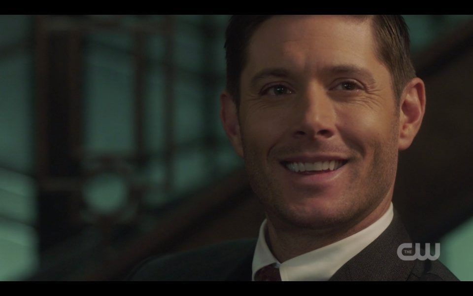 dean winchester smiling evil as michael spn nihilism