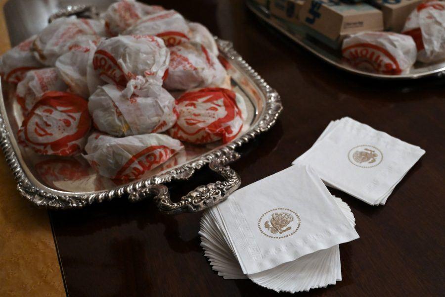 donald trump clemson fast food fake news